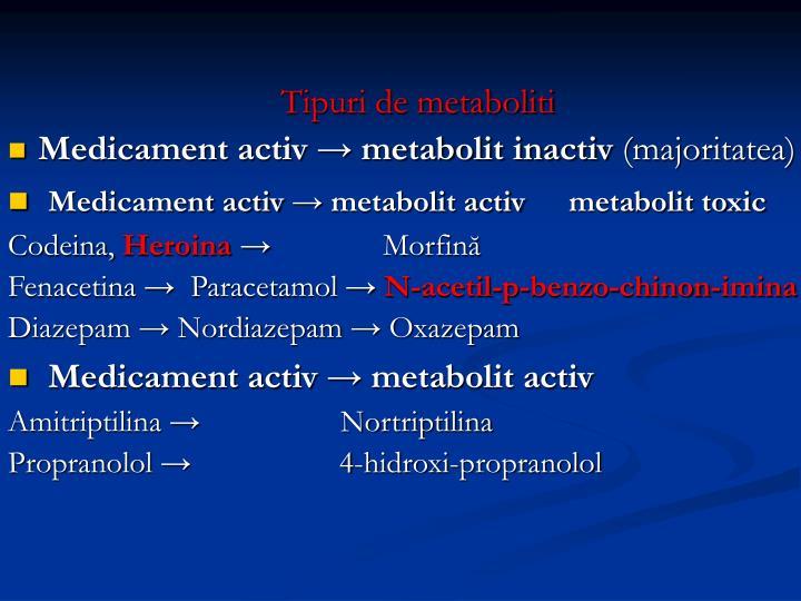 Tipuri de metaboliti