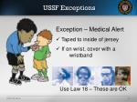 ussf exceptions