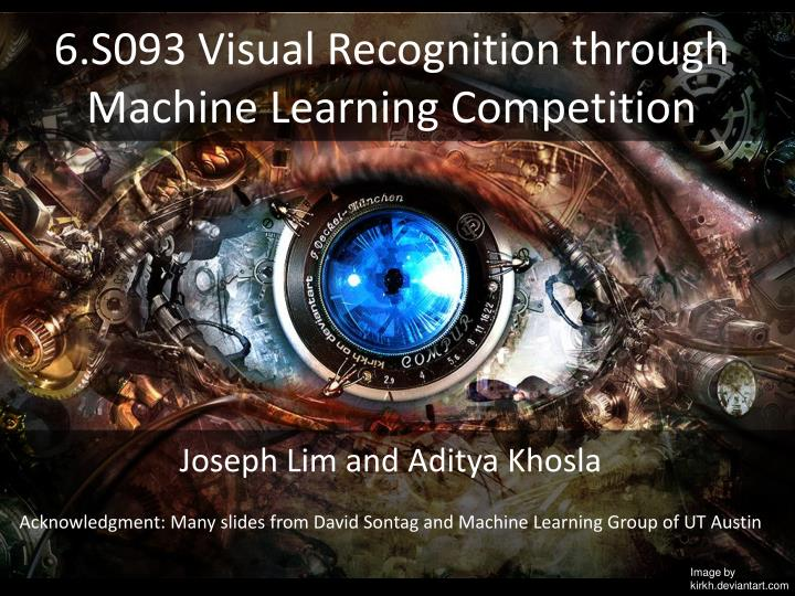 6 s093 visual recognition through machine learning competition n.