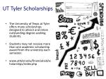 ut tyler scholarships