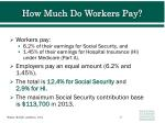 how much do workers pay