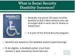 what is social security disability insurance