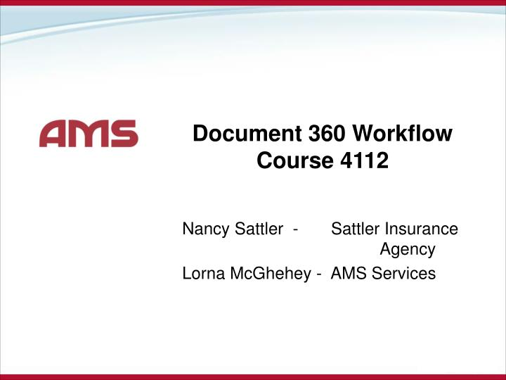 document 360 workflow course 4112 n.