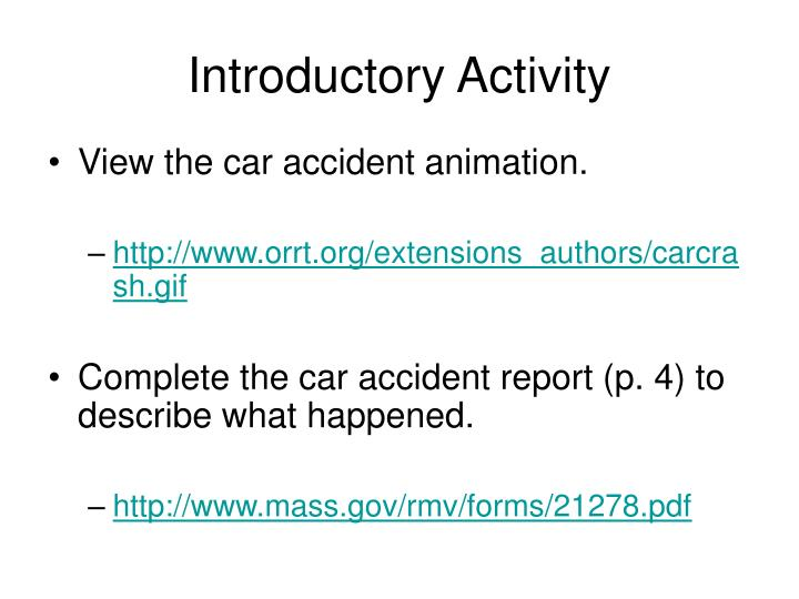 introductory activity n.