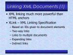 linking xml documents 1