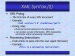 xml syntax 2