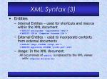 xml syntax 3