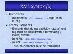 xml syntax 6