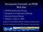 documents currently on pssb web site