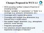 changes proposed in wcs 1 1