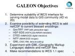 galeon objectives