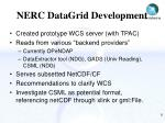 nerc datagrid development