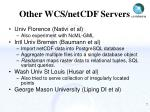 other wcs netcdf servers