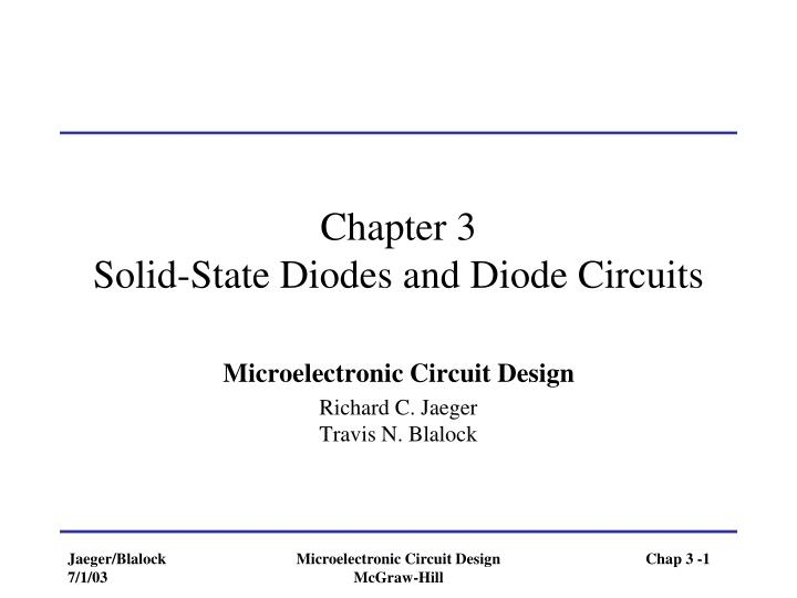 chapter 3 solid state diodes and diode circuits n.