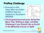 prereq challenge