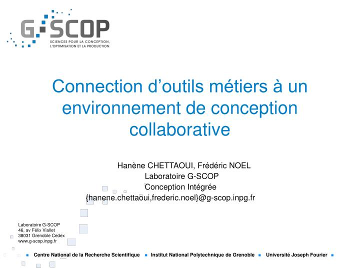 connection d outils m tiers un environnement de conception collaborative n.