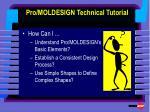 pro moldesign technical tutorial1