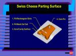swiss cheese parting surface