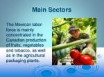 main sectors