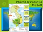 l exemple de l indochine fran aise