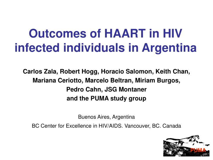 outcomes of haart in hiv infected individuals in argentina n.