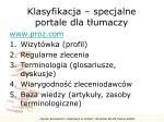 klasyfikacja specjalne portale dla t umaczy1