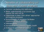 benefits of collaborating on business process analysis