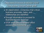 business process analysis how you know you ve done well