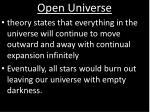 open universe