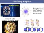 focussing magnets