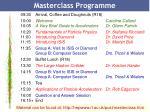 masterclass programme