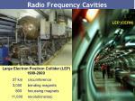 radio frequency cavities