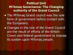 political unit mi kmaq governance the changing authority of the grand council