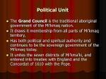 political unit