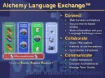 alchemy language exchange