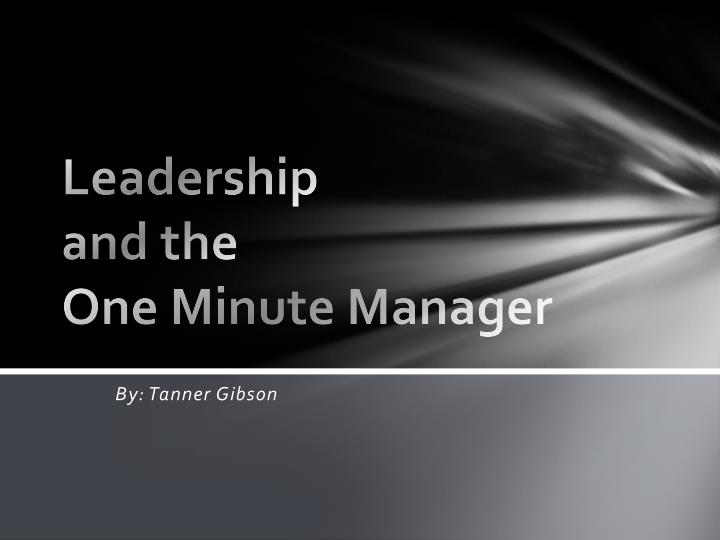 leadership and the one minute manager n.