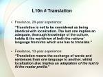 l10n translation