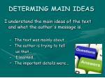 determing main ideas