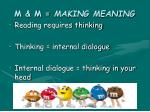 m m making meaning