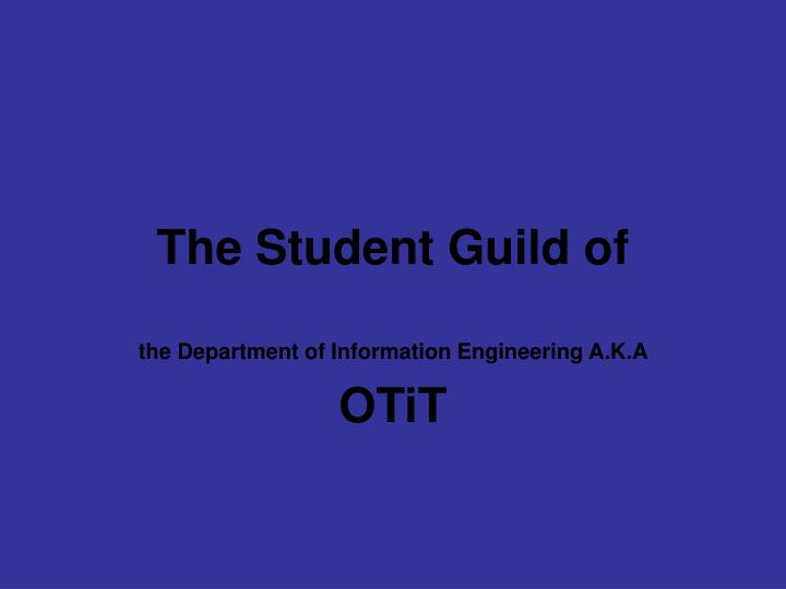 the student guild of n.