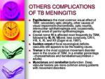 others complications of tb meningitis