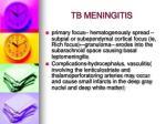 tb meningitis