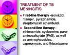 treatment of tb meningitis