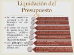 liquidaci n del presupuesto