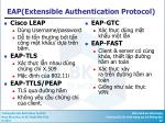 eap extensible authentication protocol