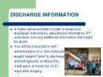discharge information