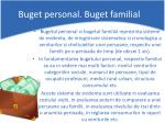 buget personal buget familial