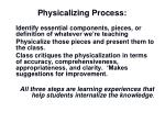 physicalizing process