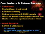 conclusions future research