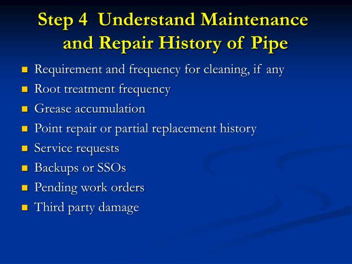 Step 4  Understand Maintenance